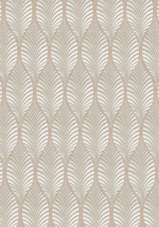 "Anna French audiniai ""Deilen Embroidery"" – Cream on Natural Linen"
