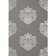 "Anna French tapetai ""Arran"" – Metallic on Dark Taupe"