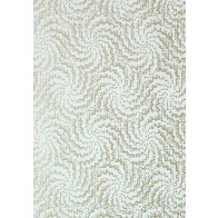 "Anna French tapetai ""Cirrus"" – Metallic Pewter on Aqua"