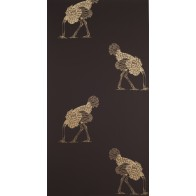 """Beware the Moon tapetai """"Ostrich"""" - Large Gold Leaf on Brownstone"""