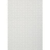 Thibaut tapetai TAZA - Metallic Silver on Grey
