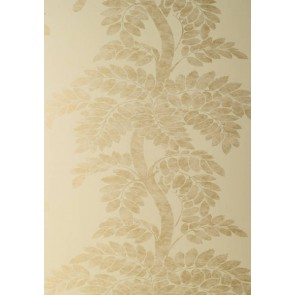 "Anna French tapetai ""Wisteria"" – Gold on Pale Yellow"