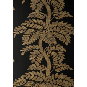 "Anna French tapetai ""Wisteria"" – Gold/Grey on Black"