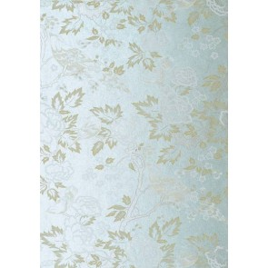 "Anna French tapetai ""Songbirds"" – Cream on Blue"