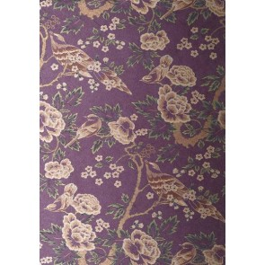 """Anna French tapetai """"Songbirds"""" – Gold/Purple"""