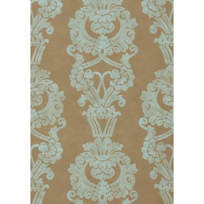 "Anna French tapetai ""Abington"" – Brown and Aqua"