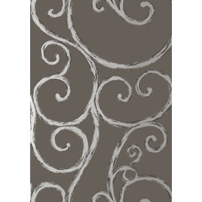 """Anna French tapetai """"Palace Gate"""" – Silver on Charcoal"""
