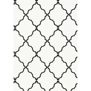 "Anna French tapetai ""Klein Trellis"" – Black on White"