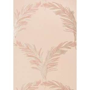 "Anna French tapetai ""Plumes"" – Metallic on Blush"