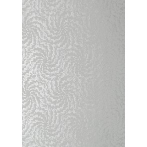 "Anna French tapetai ""Cirrus"" – Metallic Silver on Grey"