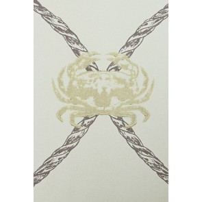 Barneby Gates tapetai Crab - Gold / Charcoal