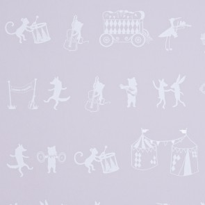 "Hibou Home tapetai ""Animal Parade"" – Chalk Pink/White"