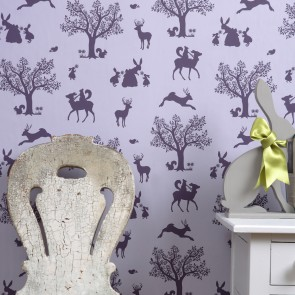 "Hibou Home tapetai ""Enchanted Wood"" – Lilac/Aubergine"
