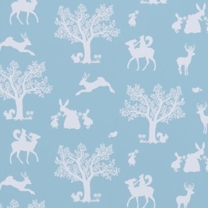 "Hibou Home tapetai ""Enchanted Wood"" –  Duck Egg Blue/White"
