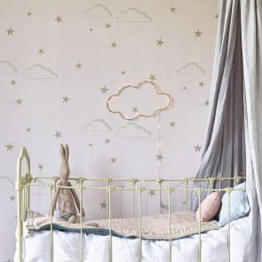 "Hibou Home tapetai ""Starry Sky wallpaper"" – Pale rose/gold"