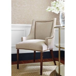 Thibaut sienų danga CURTIS LINEN DAMASK- Metallic Gold on Natural