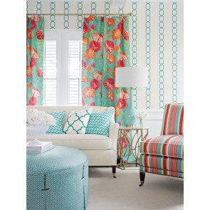 Thibaut audiniai BRIGHTON STRIPE  - Aqua and Pink