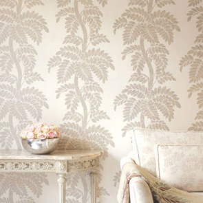 "Anna French tapetai ""Wisteria"" – Silver/Gold on off white"