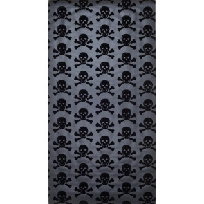 "Beware the Moon tapetai ""Skulls"" - Black on Gunmetal"