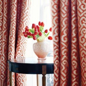 "Anna French audiniai ""River Moon Ikat"" – Orange"