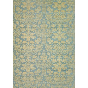 Thibaut sienų danga CURTIS SILK DAMASK - Blue on Metallic Gold