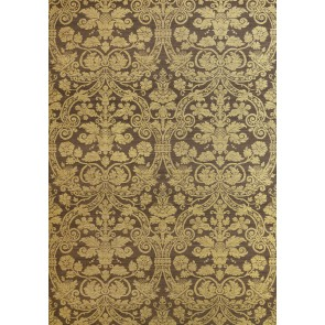 Thibaut sienų danga CURTIS SILK DAMASK - Metallic Gold on Brown