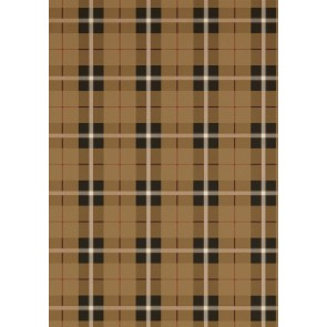 Thibaut tapetai WINSLOW PLAID  - Camel and Black