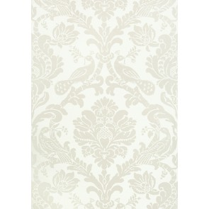 "Thibaut tapetai ""Passaro Damask"" - Pearl on White"