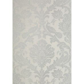 "Thibaut tapetai ""Passaro Damask"" - Metallic Silver on Grey"