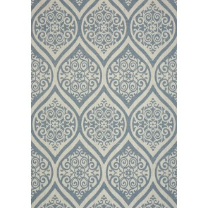 "Thibaut tapetai ""Tangiers"" - Navy on White"
