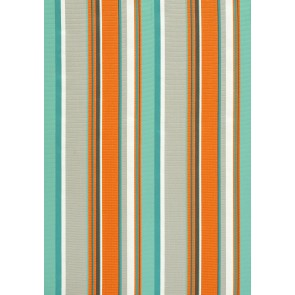 Thibaut audiniai BRIGHTON STRIPE  - Aqua and Tangerine