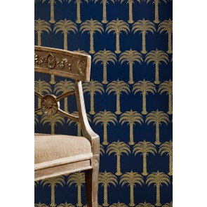 Barneby Gates tapetai Marrakech Palm - Midnight Blue