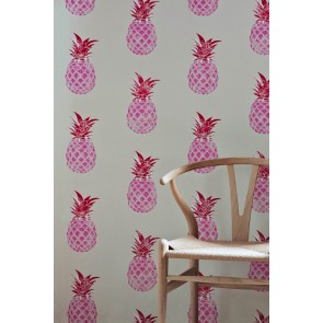 Barneby Gates tapetai Pineapple - Pink / Red